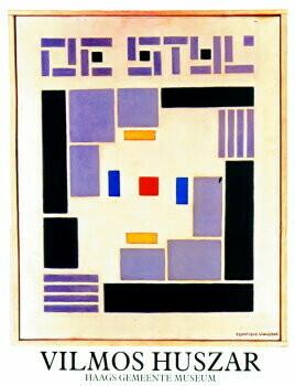 Vilmos Huszar (1884-1960) -Comp.de Stijl/ 48*62/ K- plakaten