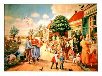 Cornelis Jetses (1873-1955) -C.Jetses/Vertelsesplaat/45x60- plakaten