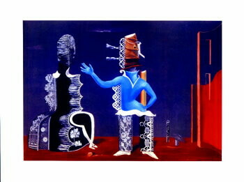 Max Ernst (1891-1976) -M.Ernst/Het Paar/80*60/BR- plakaten