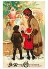 A.N.B.  -  Moeder staat met kinderen bij de kerstboom - Postkaarten-set -  1C0223-1