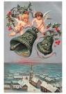 A.N.B.  -  Twee engelen boven een dorp - Postkaarten-set -  1C0451-1