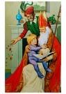 A.N.B.  -  Sinterklaas met kind op schoot - Postkaarten-set -  1C1777-1