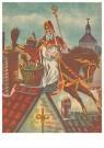 A.N.B.  -  Sinterklaas met zwarte piet op het dak - Postkaarten-set -  1C1862-1