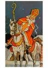 A.N.B.  -  Sinterklaas op zijn paard - Postkaarten-set -  1C1871-1