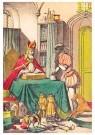 A.N.B.  -  Sinterklaas met zwarte piet bij de cadeautjes - Postkaarten-set -  1C1872-1