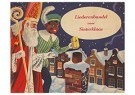 A.N.B.  -  Sinterklaas en zwarte piet bij de schoorsteen met een cadeau - Postkaarten-set -  1C1911-1