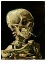 Vincent van Gogh (1853-1890)  -  Head of a skeleton with a burning cigarette, 1886 - Postkaarten-set -  A105556-1
