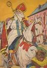 A.N.B.  -  Sinterklaas en zwarte piet gaan door de straat - Postkaarten-set -  A118960-1