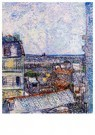 Vincent van Gogh (1853-1890)  -  View of Paris from Vincents Room in the Rue Lepic, 1887 - Postkaarten-set -  A36992-1