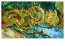 Vincent van Gogh (1853-1890)  -  Stilleven met vier zonnebloemen - Postkaarten-set -  A3930-1