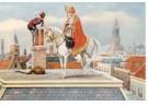 -  Sint en Piet op het dak, ca. 1930 - Postkaarten-set -  D1110-1