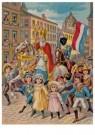 -  Intocht Sinterklaas, 19e eeuw - Postkaarten-set -  D1118-1