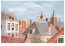 J.C. Kesler  -  Sint en Piet op het dak, ca. 1930 - Postkaarten-set -  D1136-1