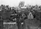 Spaarnestad Fotoarchief,  -  Sinterklaas met zijn paard over de daken - Postkaarten-set -  D1156-1