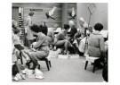 Spaarnestad Fotoarchief,  -  Sinterklaas bezig met het passen van schoenen - Postkaarten-set -  D1157-1
