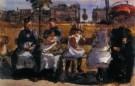 Isaac Israels (1865-1934)  -  Op de Bank - Postkaarten-set -  PA034-1