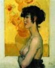 Isaac Israels (1865-1934)  -  Vrouw in profiel - Postkaarten-set -  PA036-1