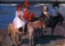 Isaac Israels (1865-1934)  -  Kinderen op ezeltjes - Postkaarten-set -  PA037-1