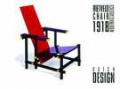 Gerrit Th. Rietveld (1888-1964 -  Blauw-rode stoel - Postkaarten-set -  PS083-1