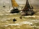 Hendrik W. Mesdag (1831-1915)  -  H.W.Mesdag/Klaar voor vertrek - Postkaarten-set -  PS1007-1