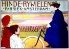 J.G.van Caspel (1870-1926)  -  Hinde Rijwielen/ 61*86/ K - Postkaarten-set -  PS240-1