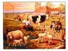 Cornelis Jetses (1873-1955)  -  In de weide - Postkaarten-set -  PS551-1