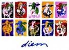 Peter Diem (1945)  -  Designer cow's - Postkaarten-set -  PS736-1