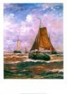 Hendrik W. Mesdag (1831-1915)  -  Mesdag/Vallende bommen/50*70 - Postkaarten-set -  PS790-1