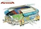 Rudolf Das (1929)  -  Stadion Amsterdam Arena/ 45*60 - Postkaarten-set -  PS839-1