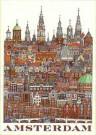 Tim Killiam (1947-2014)  -  Amsterdam - Postkaarten-set -  PS983-1