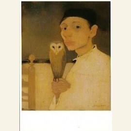 J. Mankes/Zelfportret met uil