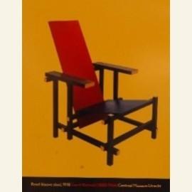 Rood-blauwe stoel
